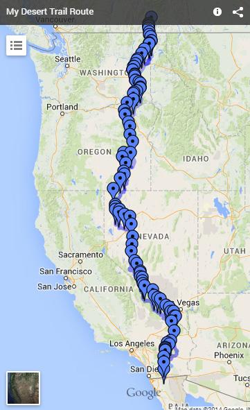 desert trail map