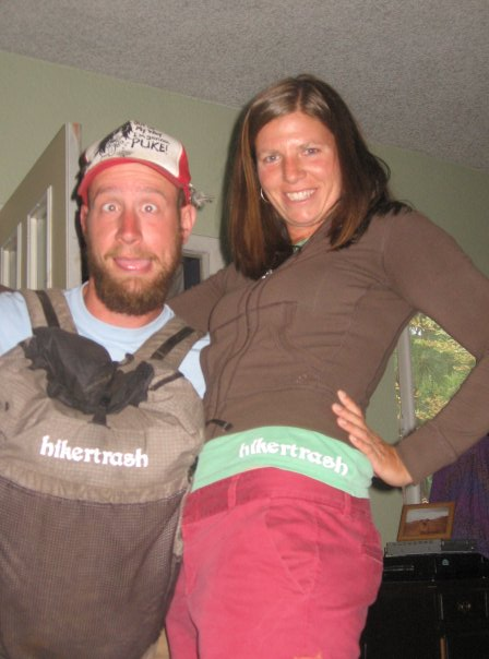 "Back in 2009 on Lint's second thru-hike of the PCT I printed my first ""hikertrash"" on his pack when he passed through Bend."