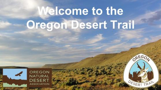 Oregon Desert Trail March 2016