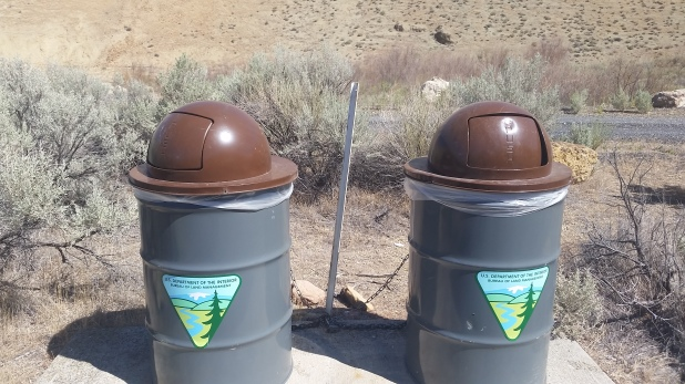 Trash cans at Lesley Gulch! It's the little things...