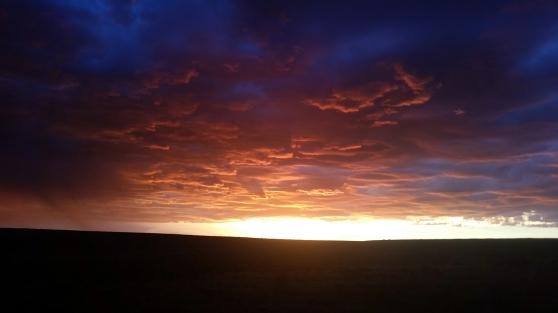 the sky seems bigger in the desert